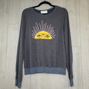 Wildfox Sun Baggy Sweater Womens Small SM Fuzzy
